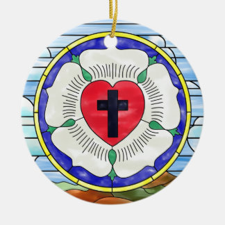 Luther Seal Stained Glass Window Christmas Ornament