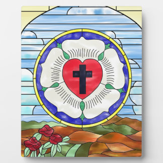 Luther Seal Stained Glass Window Display Plaque