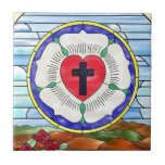 Luther Seal Stained Glass Window Tile