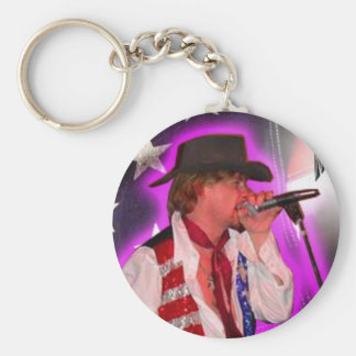 Luther Singing Pic Basic Round Button Key Ring