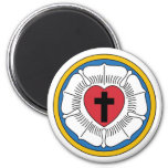 Lutheran Magnet1 6 Cm Round Magnet
