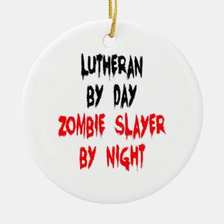 Lutheran Zombie Slayer Christmas Ornament