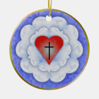 Luther's Rose Christmas Ornament