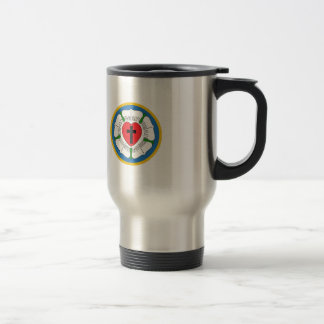LUTHERS ROSE STAINLESS STEEL TRAVEL MUG