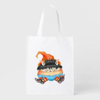 LUTIN ALIEN sac Réutilisable, Reusable Grocery Reusable Grocery Bag