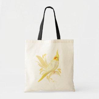 Lutino Cockatiel Tote Bag