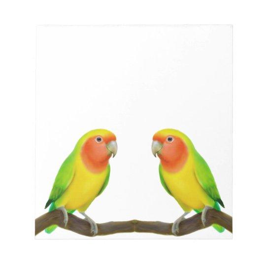 Lutino Lovebird Love Notepad
