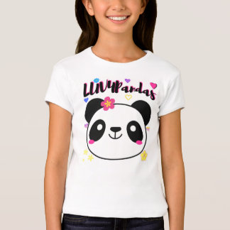 LUV4Pandas Girls Panda Heart T-Shirt