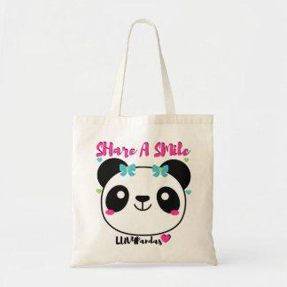 LUV4Pandas Hearts & Smiles Budget Tote Bag