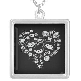 Luv 2 square pendant necklace