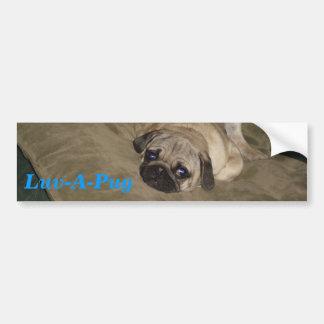 Luv-A-Pug Bumper Sticker