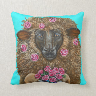 Luv Ewe by TACS cotton throw pillow