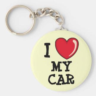 Luv My Car! Basic Round Button Key Ring