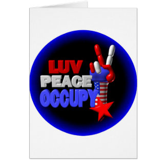 Luv Peace Occupy Greeting Card