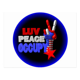 Luv Peace Occupy Postcard