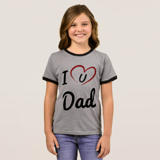 luv u dad ringer T-Shirt