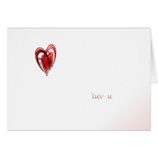 Luv u greeting card