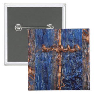 Luv U ❤️ Luv Me - Copper Cross Square Badge