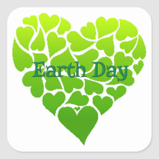 Luv'n Green Earth Day Stickers