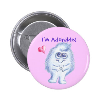 "LuvPuffs ""I'm Adorable!"" 6 Cm Round Badge"