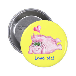 "LuvPuffs, ""Love Me!"" Button"