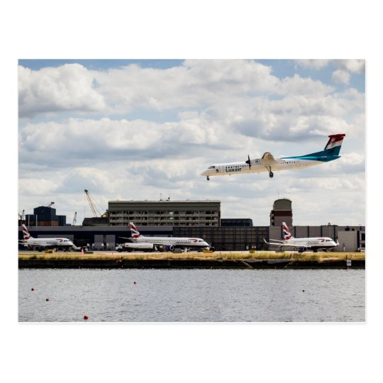 Lux Air London City Airport Postcard