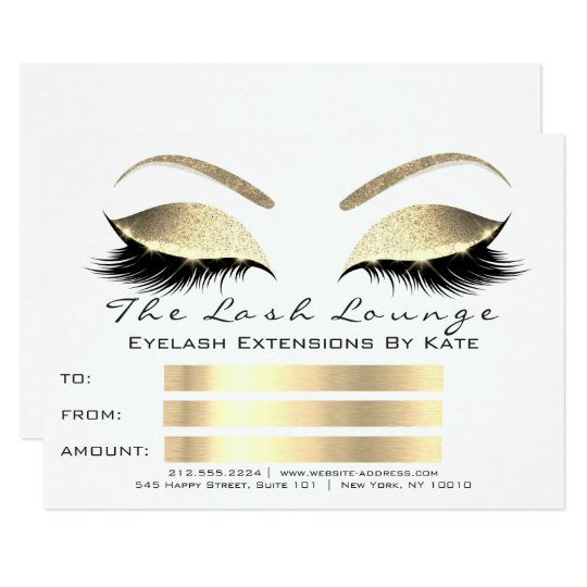 Lux Lashes White Blac Gold Makeup Certificate Gift Card