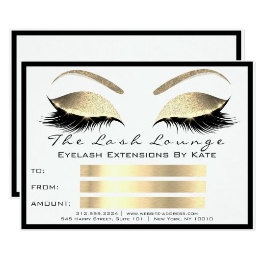 Lux Lashes White Gold Gold Makeup Certificate Gift