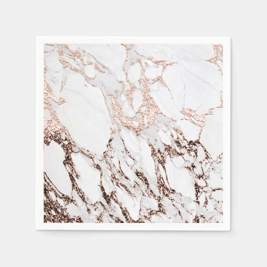 Lux Rose Gold Metallic White Gray Marble Party