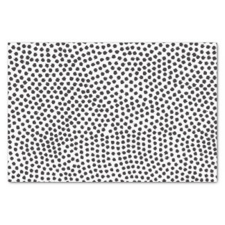 Luxe Black Confetti Dots Tissue Paper