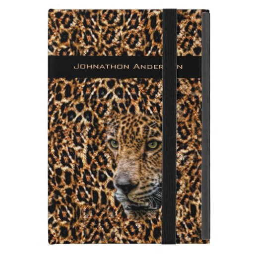 Luxe Brown Leopard Fur Exotic Wild Cat Camouflage Covers For iPad Mini
