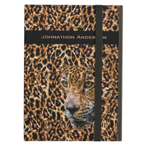 Luxe Brown Leopard Fur Exotic Wild Cat Camouflage iPad Air Covers