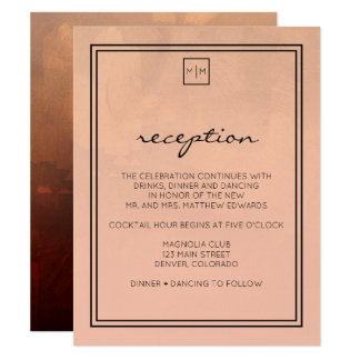 Luxe Burgundy and Blush Reception Card