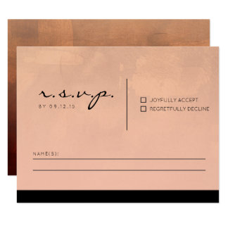 Luxe Burgundy and Blush RSVP Card