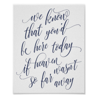 Luxe Calligraphy In Memory Sign (Navy Blue)