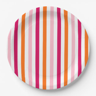 Luxe Circus Striped Matching Party Plates