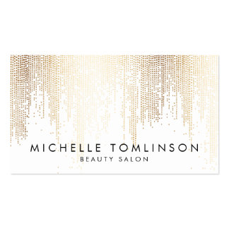 Luxe Faux Gold Confetti Rain Pattern Pack Of Standard Business Cards