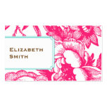 Luxe Floral Pink Business Card