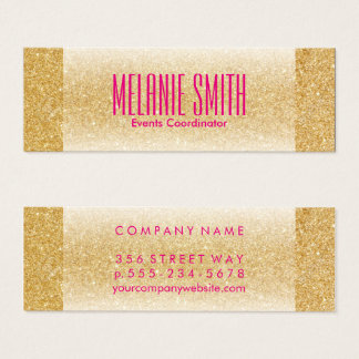 Luxe Gold Shimmer Mini Business Card