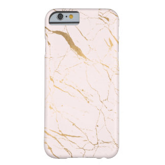 Luxe Pink and Gold Marble Barely There iPhone 6 Case