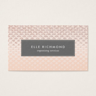 Luxe Rose Gold Business Card Template