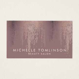 Luxe Rose Gold Confetti Rain Pattern