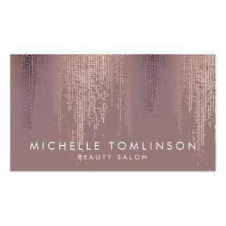Luxe Rose Gold Confetti Rain Pattern Pack Of Standard Business Cards