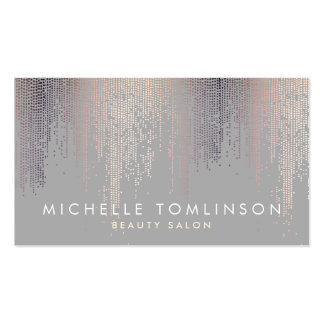 Luxe Shimmer Look Confetti Rain Pattern Gray Pack Of Standard Business Cards