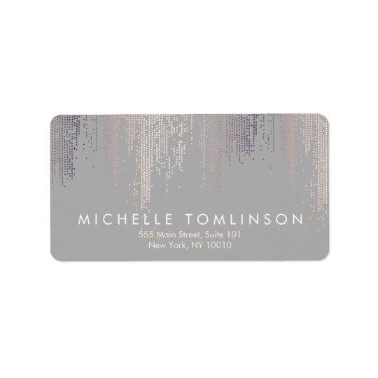 Luxe Shimmer Look Confetti Rain Pattern Grey Label