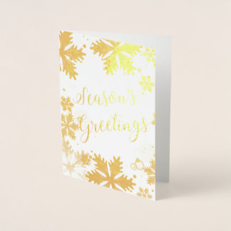 Luxe snowflakes Corporate Holiday Greeting Foil Card