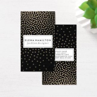 Luxe Speckled Golden Pattern Business Card