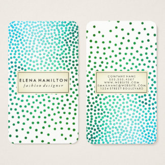 Luxe Speckled Pattern Business Card