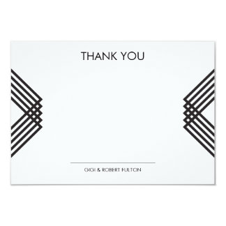 Luxe Stripes Thank You Card