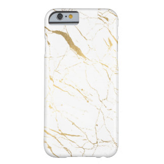 Luxe White and Gold Marble Barely There iPhone 6 Case